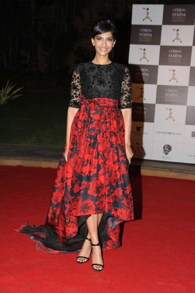 Sonam Kapoor wearing weathered florals
