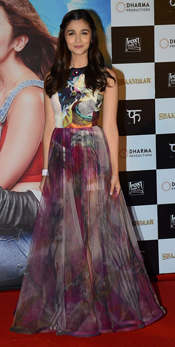 Alia Bhatt wearing weathered florals