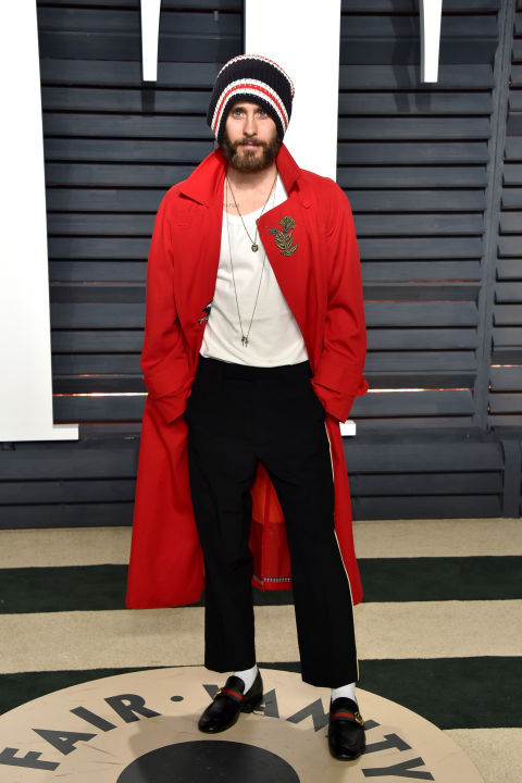 Jared Leto at the Vanity Fair Oscars after party