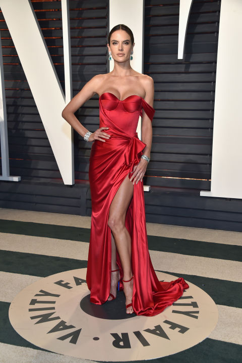 Alessandra Ambrosio at the Vanity Fair Oscars after party
