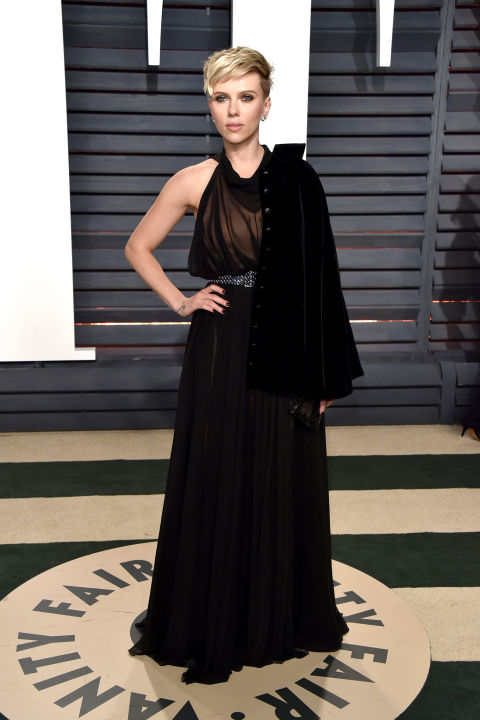 Scarlett Johansson at the Vanity Fair Oscars after party