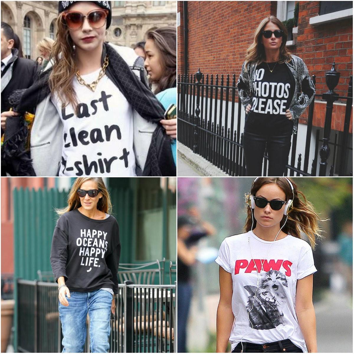 slogan tees street style