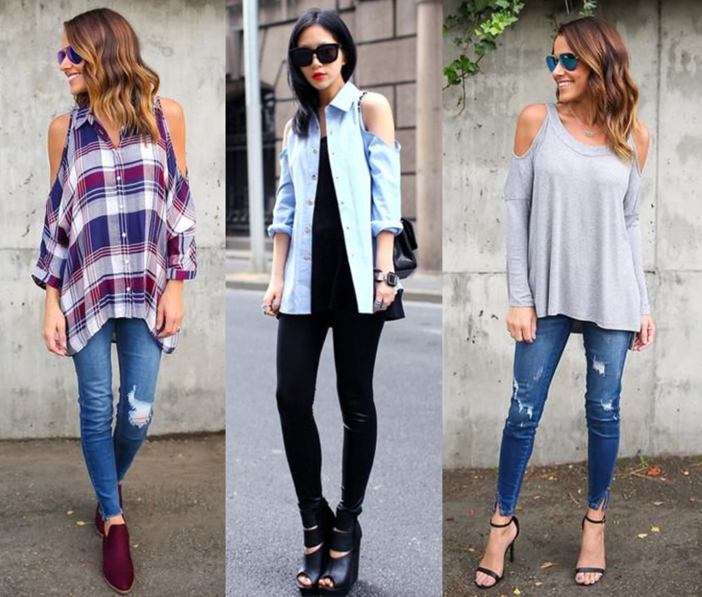 7.Cold Shoulder Sleeves